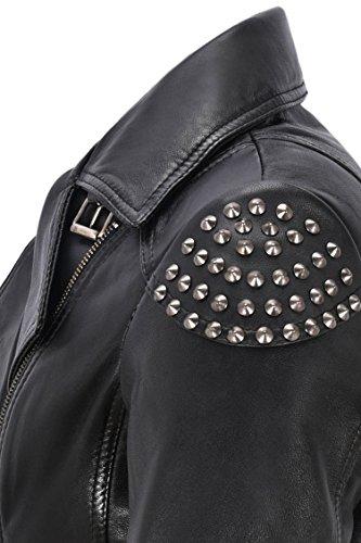 Smart Biker Soft Skull Real Mujer Cuero Range Studed Napa Style 2740 Negra Chaqueta Back De Para rgqTFrvw