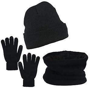 ZoomSky Hiver Chaud Bonnet Bonnet écharpe écran Tactile pour Unisexe Hommes Femmes Ados Sport en Plein Air Ski…