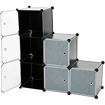 c ahome 8 cube storage organizer toy rack cabinet wardrobe diy black closet with. Black Bedroom Furniture Sets. Home Design Ideas