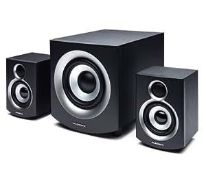 Pleomax S2-600B conjunto de altavoces - Set de altavoces (2.1, 44 W, PC, Amplifier, Incorporado, 44 W) Negro