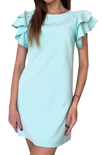 Back Sexy Light Hollowed Solid Coolred Blue Women Color Dress Mini Candy ZqEYAYz