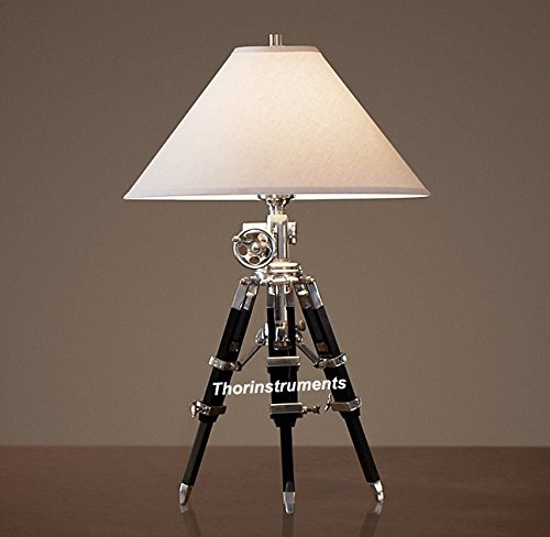 Royal Designer Chrome Nautical Desk Lamp Black Tripod Stand