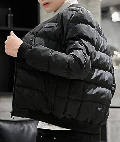 Outwear Zipper Stand security Down Pocket Men's Winter Jackets Black Collar Coat gxwg6TzqE