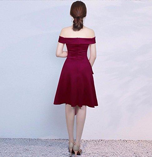 Vestido Vestido Rojo Largo Corto WBXAZL Vestido de Jujube Corto Noche Moda Mujer Corto HCddnq6xTw