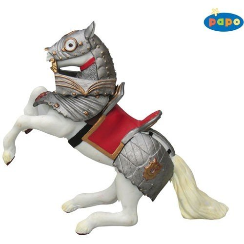 Armoured Reared Up Horse Red (Armoured Knight)