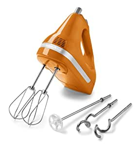 Kitchenaid Khm53tg 5 Speed Hand Mixer Tangerine Amazon