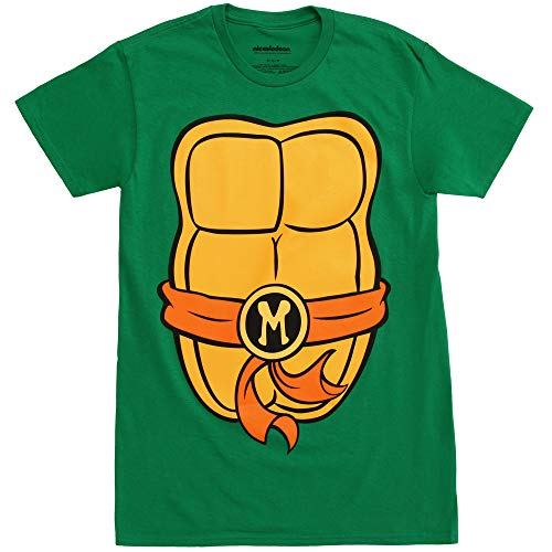 Teenage Mutant Ninja Turtles TMNT Mens Costume T-Shirt (Medium, Michelangelo) by Nickelodeon