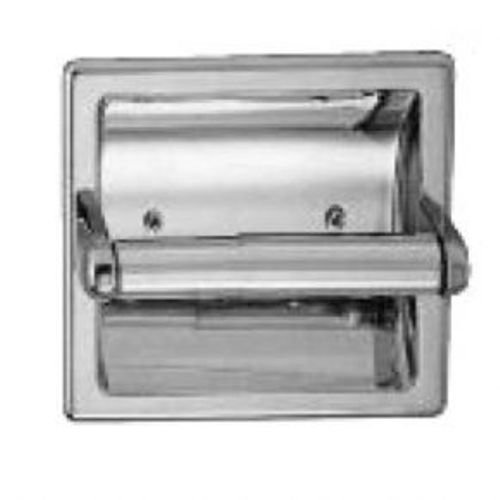 Taymor 01-1864S Diamondback Series Recessed Toilet Paper Holder with Plastic Chrome Plated Roller, Polished - 01 Lighting Accessory Recessed