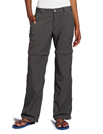 White Sierra Women's Sierra Point Convertible Pant (31-Inch Inseam) (Caviar, 1X)