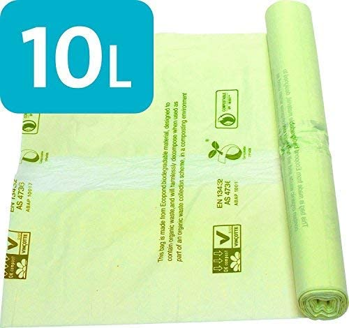 Bolsas compostables Alina de 10 Litros para botar residuos de ...