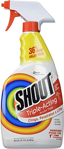 Shout Laundry Stain Remover Trigger Spray - 22 Ounce - Pack of 3 ()