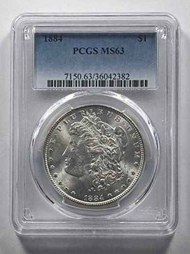 1884 Morgan Silver Dollar Dollar MS-63 PCGS