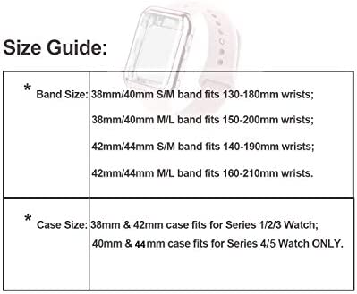 RUOQINI Smartwatch Band with Case Compatiable for Apple Watch Band 38mm 40mm 42mm 44mm, Silicone Sport Band and TPU Case for iWatch Series 5/4/3/2/1 41ayJc5OjyL