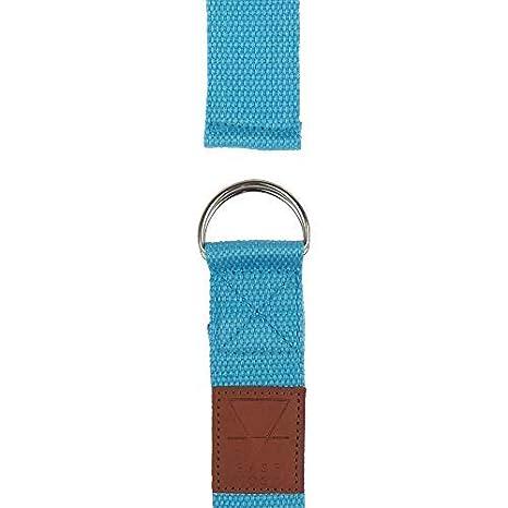 Yogi-Bare Yoga Gurt 182cm x 3.8cm Natürliche Baumwolle weiten gürtel - Blau Base-yoga YG-STRAP-1