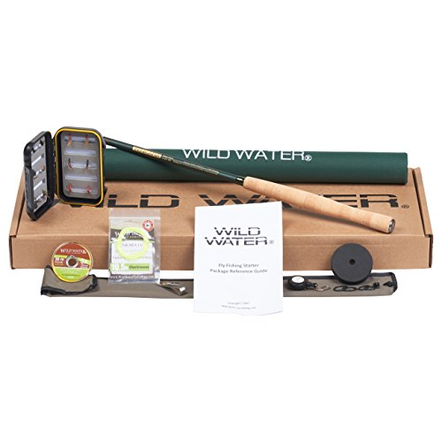 Wild Water Fly Fishing Tenkara Rod and Reel Combo 12' Fly Rod Complete Starter Package