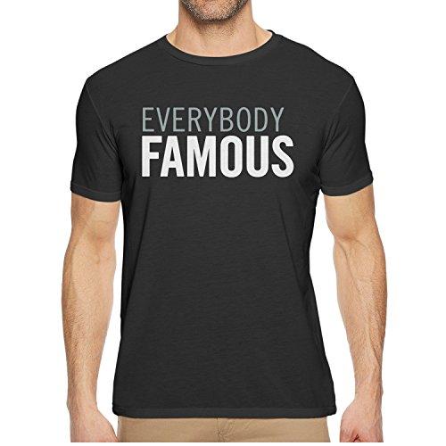 Men's T Shirts EVERYBODY FAMOUS Fashion Mens O-Neck Short Sleeve Cotton T Shirt