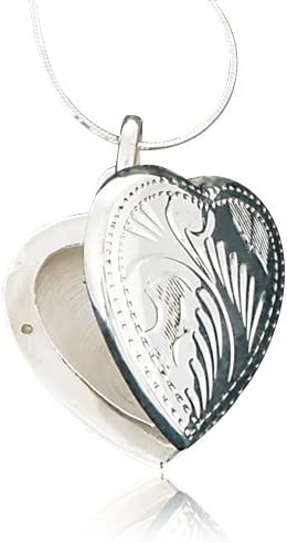 Holds 2 Photos Snake Chain NEW 925 Sterling Silver Oval Locket Necklace