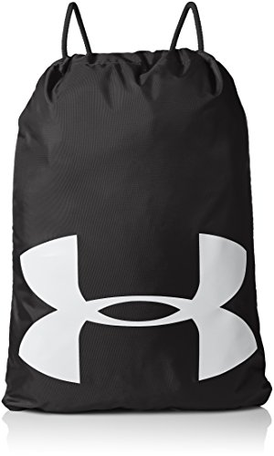 Under Armour Unisex Ozsee Elevated Reflective Sackpack, Black (001)/Reflective, One Size