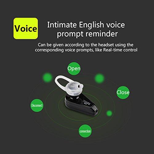 SCASTOE Ear Hook Earbuds, Bluetooth 4.1 Wireless Invisible Headphone Mini Handfree Noise Canceling In Ear Earpiece Earphone Skin color