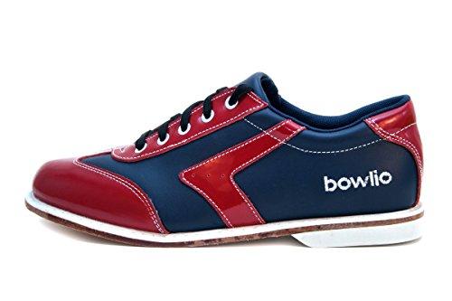 Svart Lær Sko Tenpin For Menn Og Rødt Bowlio Bowling Kvinner Rød Svart I Verona IOw545xA