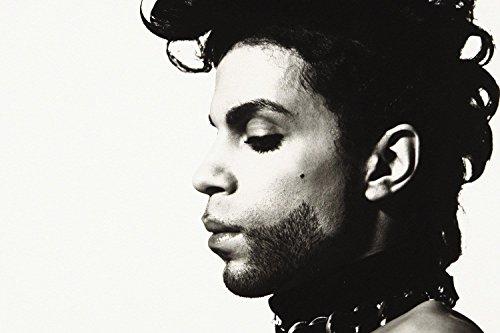 Prince Singer Profile Black White Poster 24x36