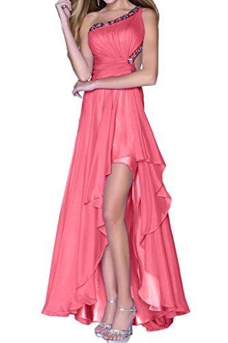 Partykleid Hi Festkleid Damen Ivydressing Chiffon Rosa Lo Modern Rueckenfrei Abendkleid Steine Promkleid nO0z0fd