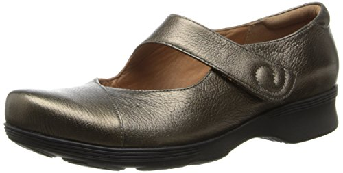 CLARKS Women's Aubria Muse Mary Jane Flat,Bronze Leather,9 M - Footwear Leather Bronze