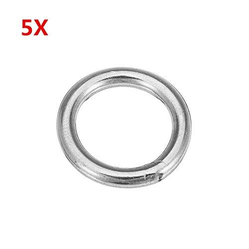 MYAMIA 5Pcs 3x20Mm 304 Acier Inoxydable Round O Ring Soudé Matériel De Cerclage Marine Gréement
