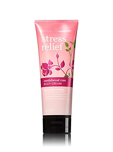 Bath & Body Works Sandalwood Rose Stress Relief 8 Ounce Body Cream Sandalwood Roses