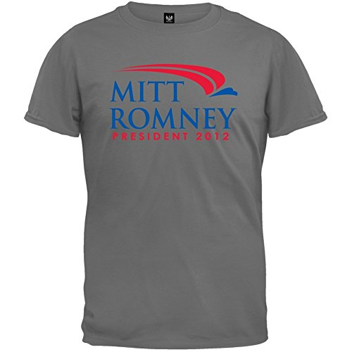 (Old Glory - Mens Mitt Romney For President 2012 Charcoal T-shirt X-large)