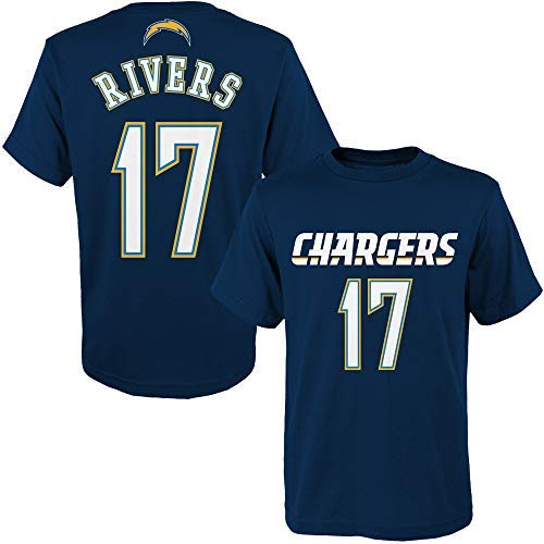 Outerstuff Philip Rivers Los Angeles Chargers NFL Youth 8-20 Navy Blue Mainliner Player Name & Number T-Shirt (Youth Large ()