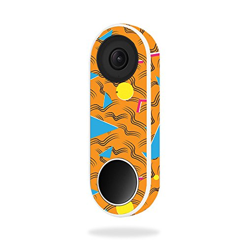 MightySkins Skin for Nest Hello Video Doorbell - 90s Tiger | Protective, Durable, and Unique Vinyl Decal wrap Cover | Easy to Apply, Remove, and Change Styles | Made in The USA