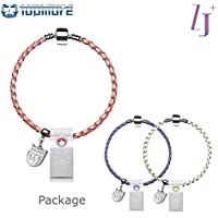 TOPMORE ZJ Series USB3.0 Flash Drive Rhinestones decorated with leather braided bracelet Flash Disk High speed Memory Stick (16 GB, 3 Color Set)