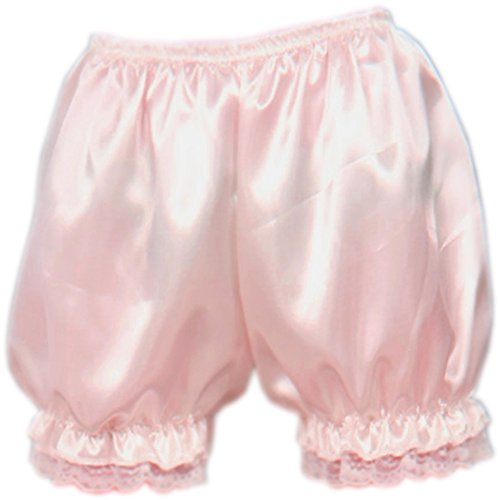 Lace Satin Bloomers (Patiky Womens Lolita Lace Pumpkin Pants Bloomers Shorts Cute Security Short Pants For Girl NK02 (Pink))