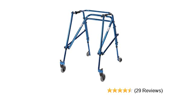 Wenzelite Nimbo Rehab Lightweight Posterior Posture Walker, Midnight Blue, Youth Adult