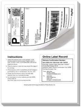 made in USA click-n-ship postage 8126 shipping mailing 50 half sheet labels