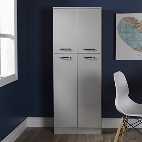 South Shore Axess 4-Shelf Pantry Storage, Soft Gray by South Shore (Image #3)