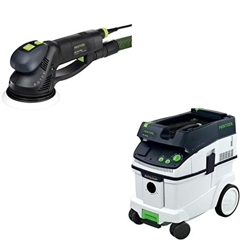 Festool PAC571810 Rotex 6 in. Multi-Mode Sander with CT 36 AC 9.5 Gallon Mobile Dust Extractor (Bosch Multi Sander)