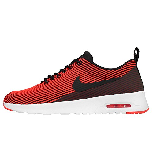 NIKE Women's WMNS Air Max Thea KJCRD, Black/Black-Bright Crimson-White, 5.5 US (Nike Air Max Thea Black And Red)