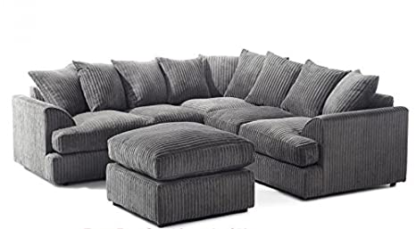 Pleasant Cheap Online Furniture Liverpool Corner Sofa In Jumbo Cord Mocha Free Footstool Uk Express Delivery 1 Year Warranty Grey Spiritservingveterans Wood Chair Design Ideas Spiritservingveteransorg