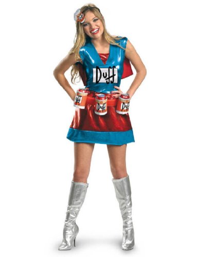 [Disguise Unisex Adult Deluxe Duffwoman, Multi, Medium (8-10) Costume] (Tv Character Costumes For Sale)