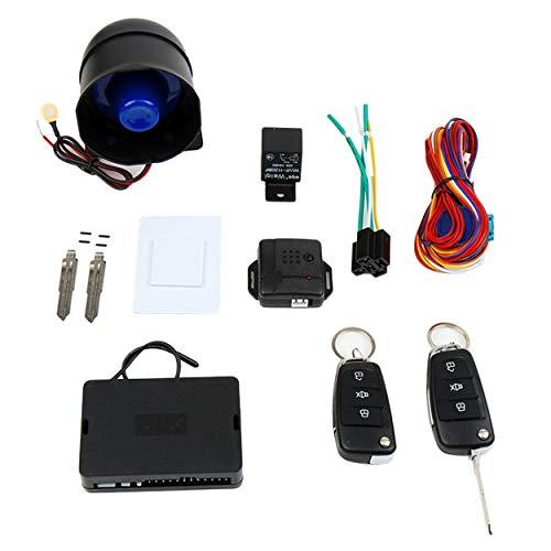 CNluca Kit de Sistema de Alarma para automóvil Dispositivos antirrobo de Alarma antirrobos para vehículos con Control...