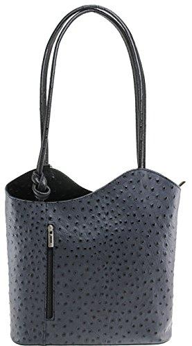 cm Noir porté en épaule MY BAG à main Gris cuir femme Sac 28x30x9 OH Sac 71YS6Y