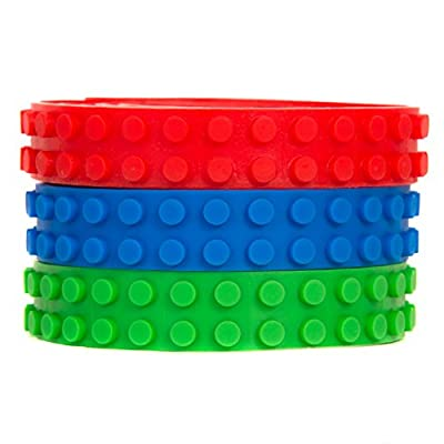 Reusable Adhesive Building Block Tape Rolls - 3 ROLL PACK(Red, Green, Blue) Compatible with All Major Brands - Creative Building Toy for Kids by BrickTape