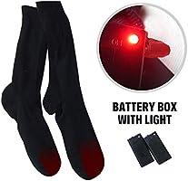 Calcetines t/érmicos para Clima fr/ío Heat Sox Sport Outdoor Camping Calcetines el/éctricos calefactables Calentadores de pie de Invierno de Doble Capa Recargables de 4.5V con bater/ía