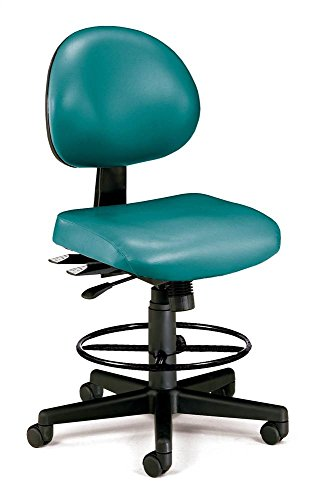 - OFM 241-VAM-DK-606 24 Hours Anti-Microbial Vinyl Computer Task Chair with Drafting Kit