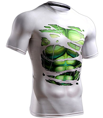 L&H Men's Monster and Beast Hulk Compression Shirt (Long Sleeve Also Available)