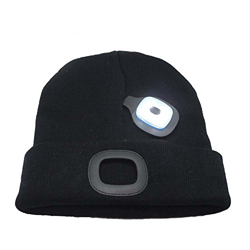 Ultra Bright LED Unisex Lighted Beanie Cap/Winter Warm hat (USB charging)