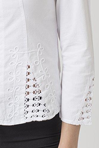 Cotonniere Blanco Mujer La Para Camisas fwUqxnfd
