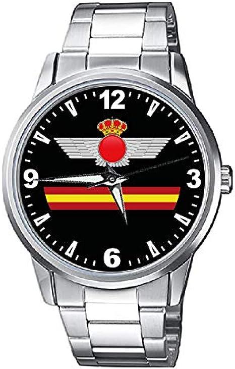 CASIO® Reloj Ejército del Aire metálico: Amazon.es: Relojes